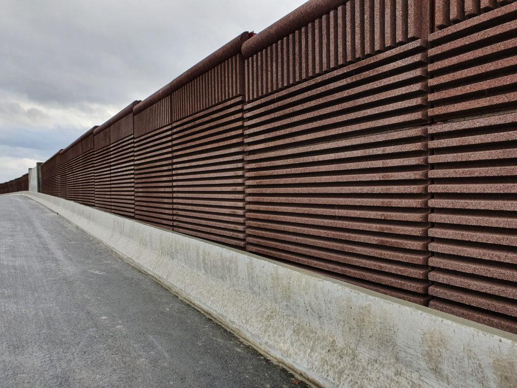 Mur anti bruit route strasbourg